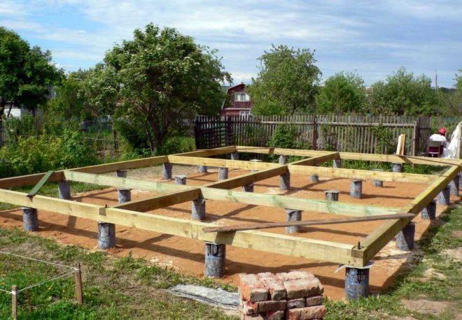 Площадка под столбчатый фундамент