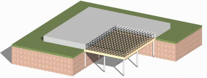 Свайно-плитный фундамент
