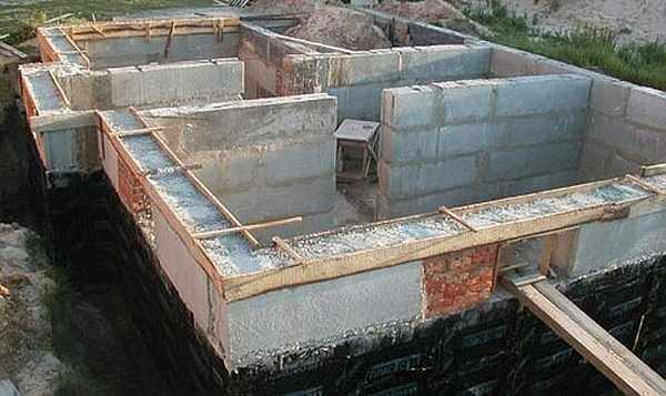 Расчёт блоков на фундамент