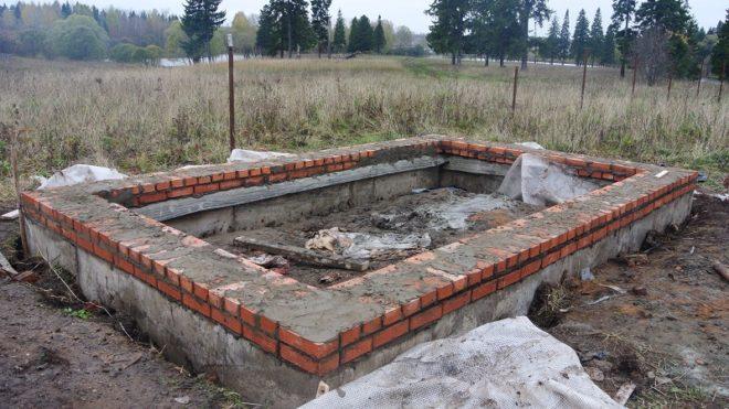 Готовый кирпичный фундамент для каркасного дома