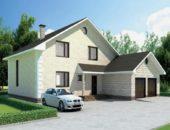 Дом с пристроенным капитальным гаражом для стоянки автомобиля