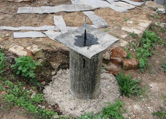 Гидроизоляция бетонного столба