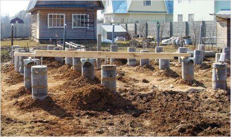 Готовые бетонные столбы
