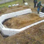 Ленточный фундамент с несъёмной опалубкой