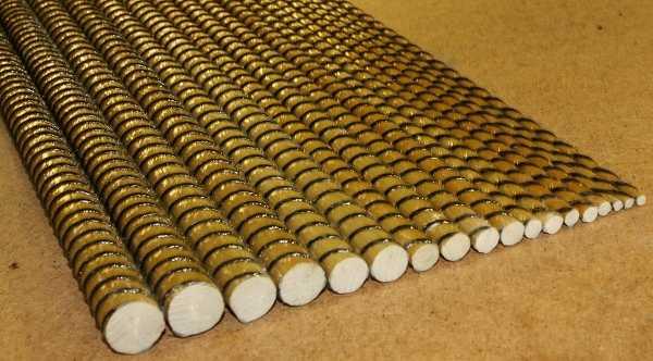 Пластиковая фундаментная арматура разного диаметра