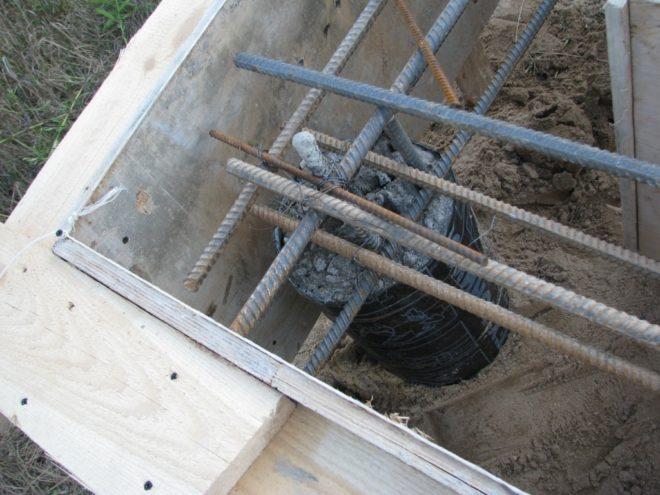 Подготовка ростверка к заливке бетонной смеси