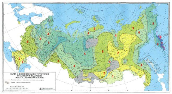 Определение снегового района