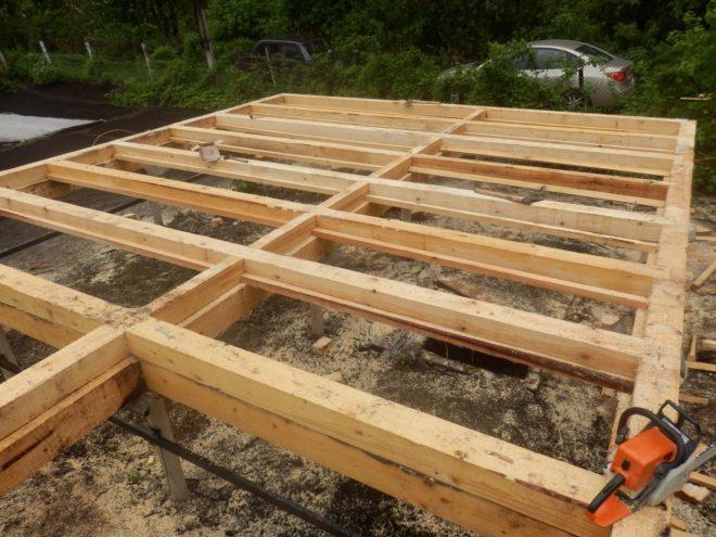 Свайный фундамент с деревянным ростверком