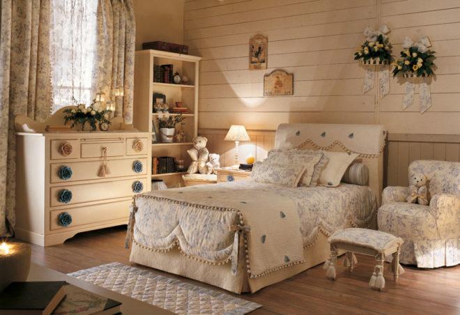 Прованс в интерьере комнаты для девочки-подростка