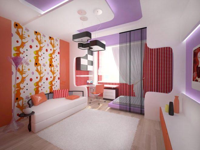 Комната в стиле поп-арт для девочки-подростка