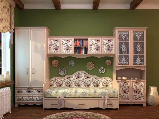 Комната в стиле кантри для девочки-подростка
