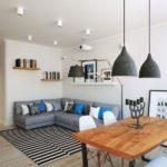 Гостиная в стиле модерн в серых тонах