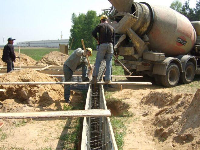 Подготовка бетонного основания под фундамент