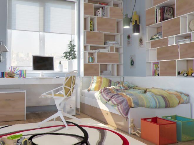 Светлая комната для девочки-подростка