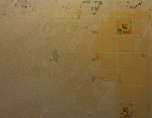 Демонтаж настенного покрытия