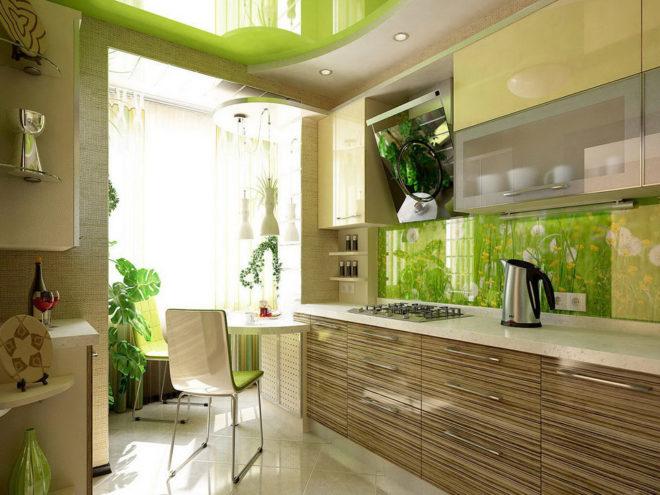 Эко-дизайн лоджии с кухней
