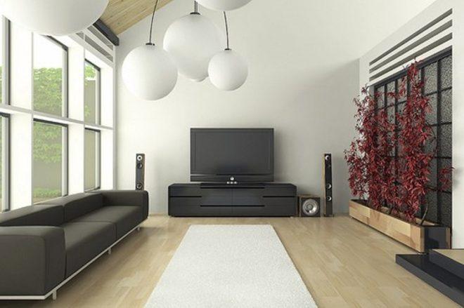 Мебель для гостиной стиля хай-тек