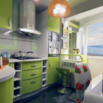 Расширение пространства кухни за счёт балкона