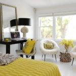 Светлая спальня в стиле контемпорари
