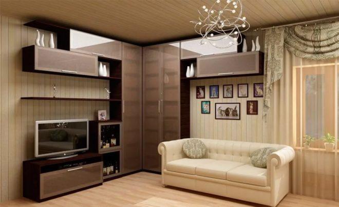 Угловая мебель в небольших гостиных