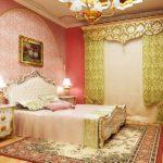 Комната в стиле ар-деко в розовых тонах