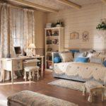 Комната в стиле кантри для молодой девушки