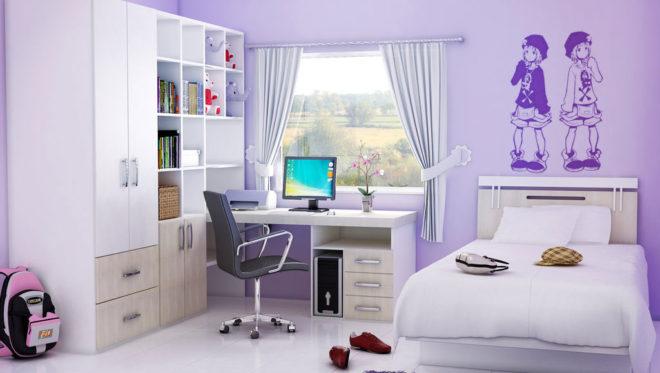 Маленькая комната для девушки