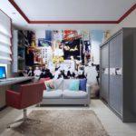 Комната с фотообоями
