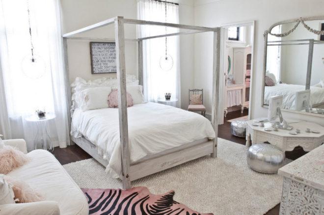 Комната в стиле прованс в белом цвете