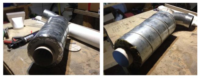 Сборка шумоглушителя из подручных материалов