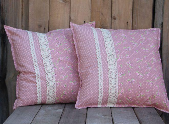 декоративные подушки своими руками в стиле шебби шик