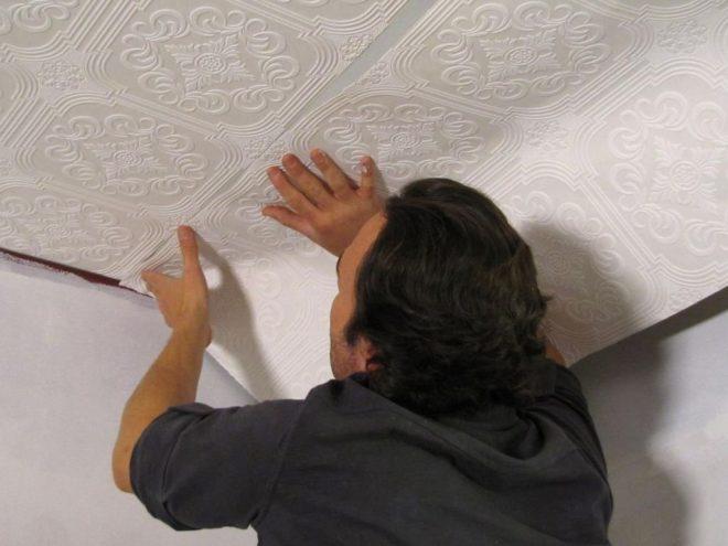 Установка потолочных плит