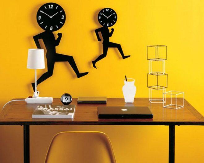 креативные часы на стену