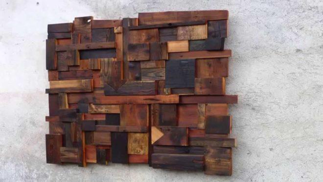оригинальное панно для гостиной из дерева