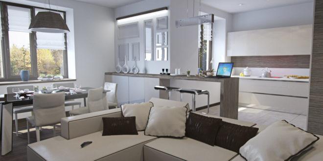 дизайн однокомнатной квартиры с зонированием пространства