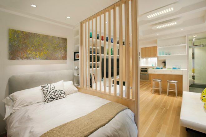 дизайн однокомнатной квартиры с использованием пастельных тонов