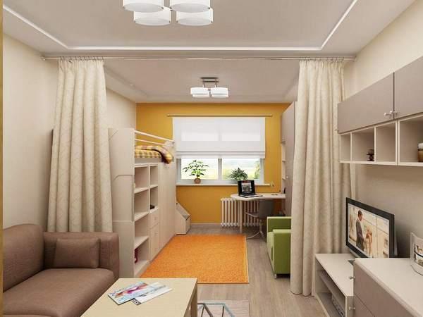 освещение в однокомнатной квартире