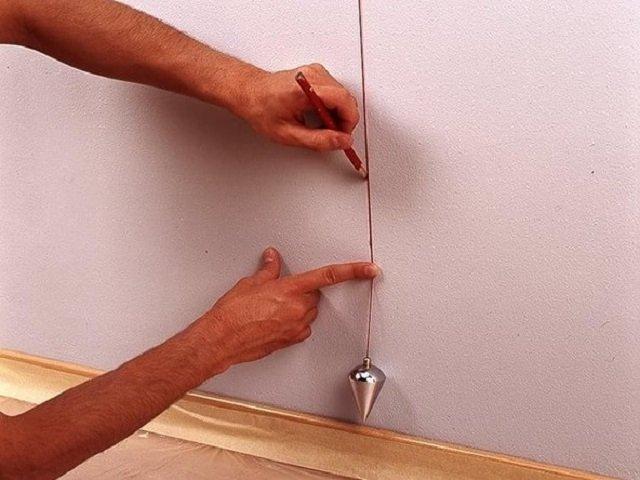 Разметка стен для гардеробной