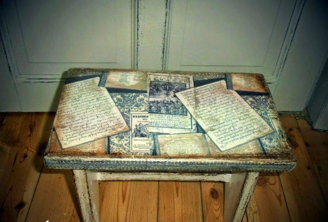 художественное оформление столика