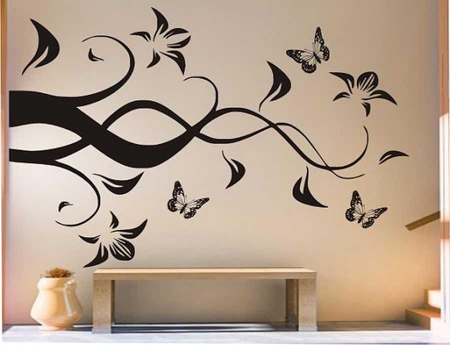 наше декоративные рисунки на стенах своими руками дом