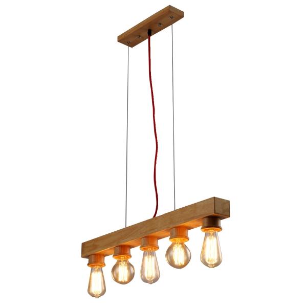 Фото светильника из дерева для брутальных интерьеров