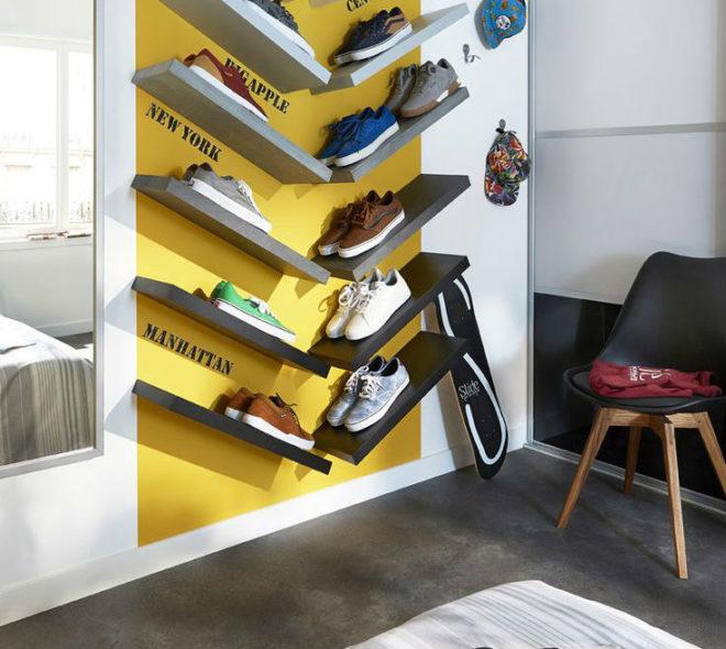 Необычные полки для обуви
