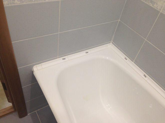 зазоры стен и ванны