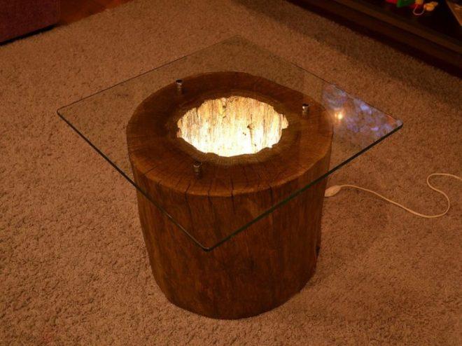 Оригинальная подсветка стола