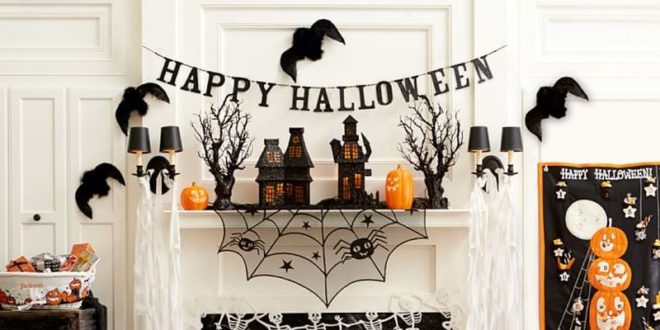 Оформление стены для вечеринки на Хэллоуин