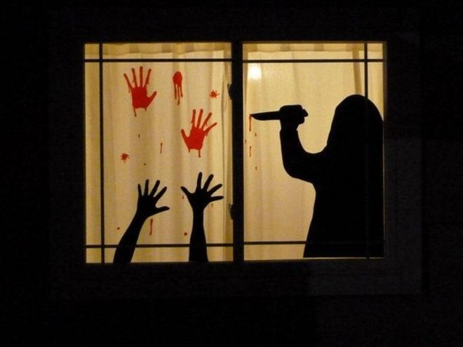 Оформление окна своими руками на Хэллоуин