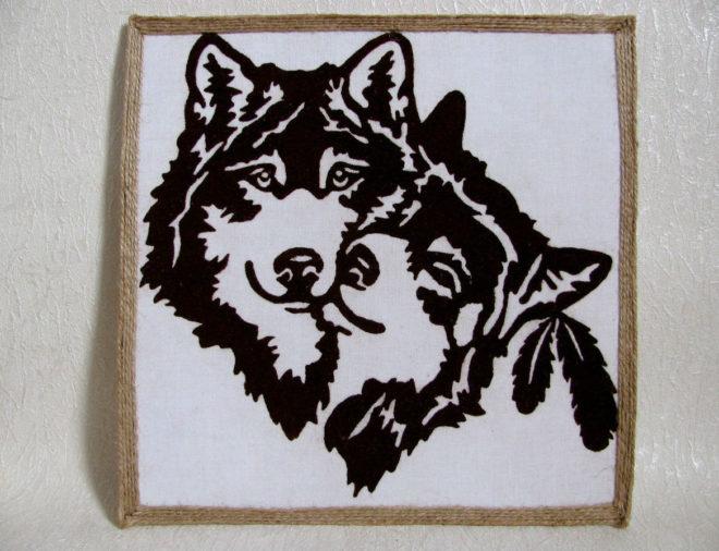Панно с волками