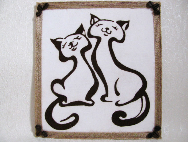 панно с котами