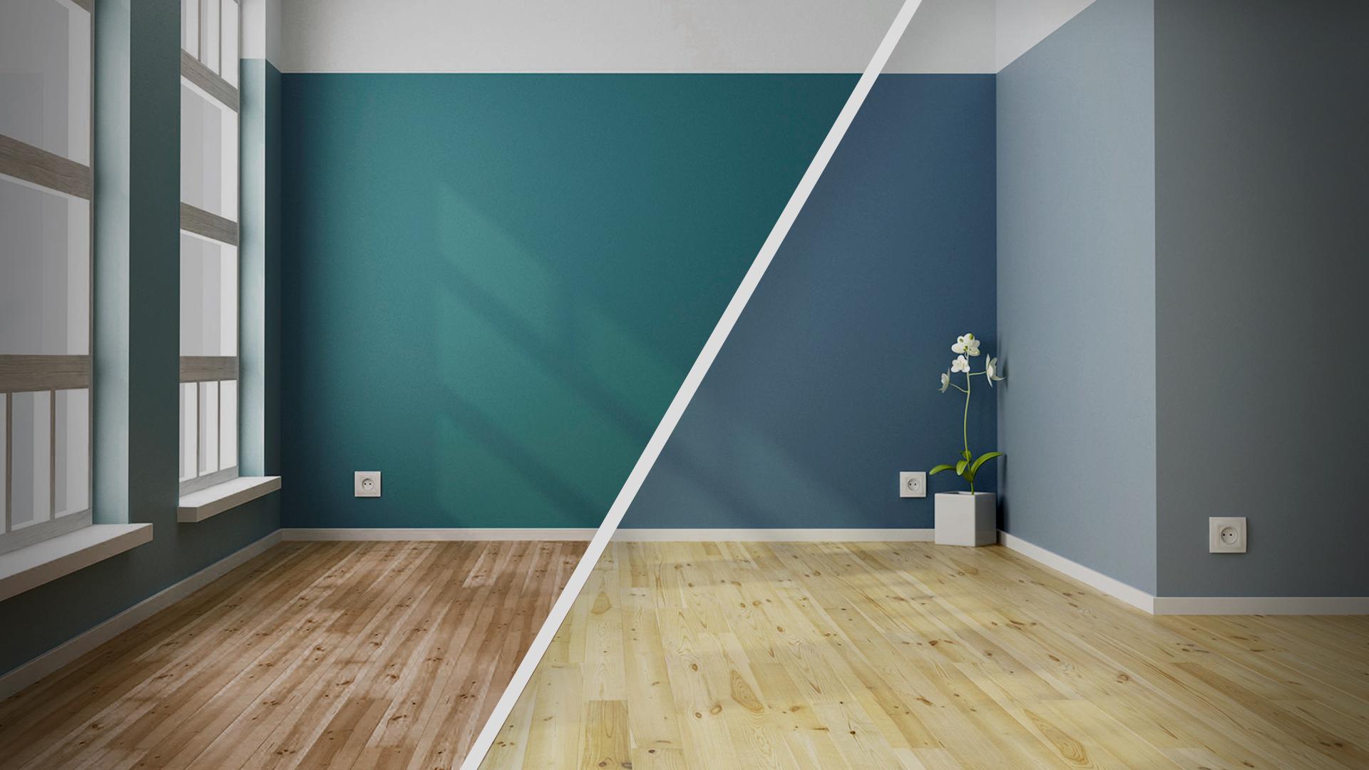 Фото ремонт комнаты только с помощью покраски
