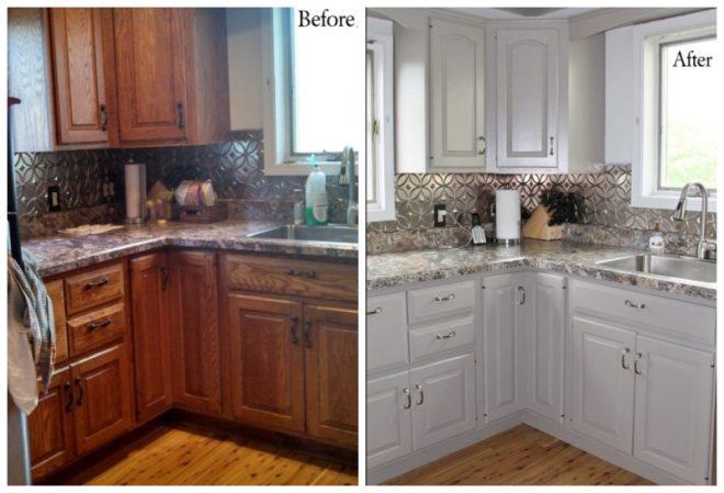 Обновление старого кухонного гарнитура своими руками